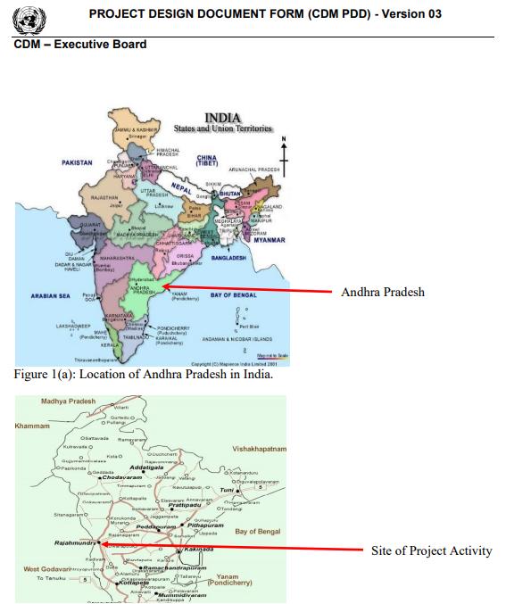 Treibhausgaseinsparung in Andhra-Pradresh
